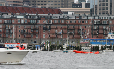 Active Duty and Auxiliary surface facilities on patrol in Boston Harbor