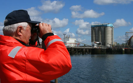 Searching for sources of pollution during a Maritime Observation Mission.