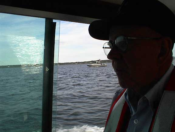 Bob at the helm of an Auxiliary Operational Facility
