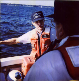 John explains Man Overboard procedures