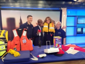 "Coast Guard Auxiliarist appeared  on TWC "" Wake Up with Al"" show"