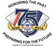 Aux. 75th Anniv. logo