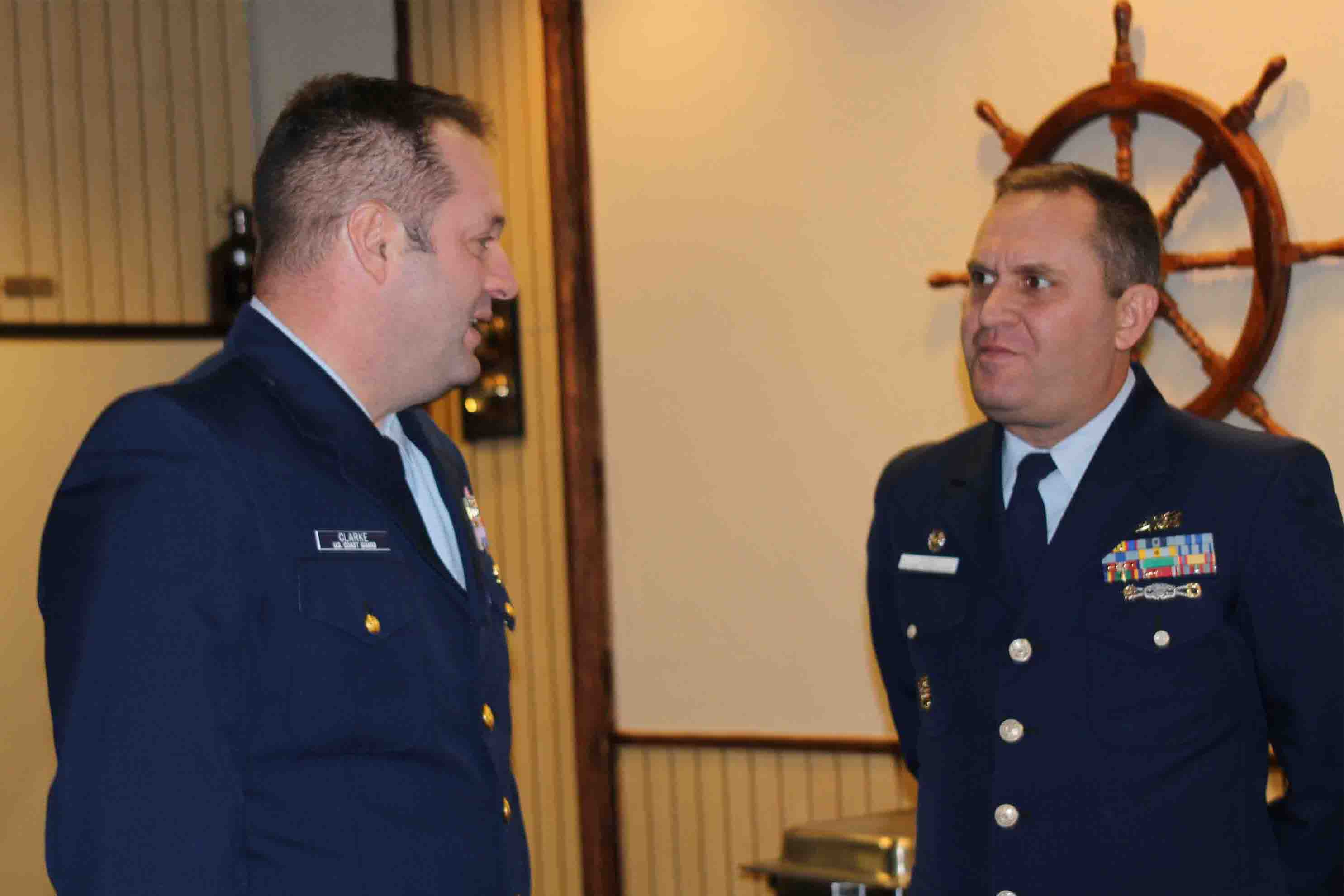 Division Commander and Coast Guard Gold Side Chat