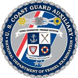 Seal Of The USCGAuxiliary Vessel Exam Department