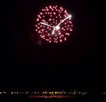 Fireworks display at PotNets Bayside, Millsboro, DE, on AUG31, 2014. Photo by Becky LLoyd.