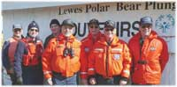 Coast Guard Auxilarists provide communication link between the Polar Bear Plunge organizers and the Coast Guard safety boats.