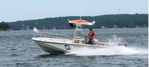 "picture of our vessel ""Defender"" on Lake Hopatcong"