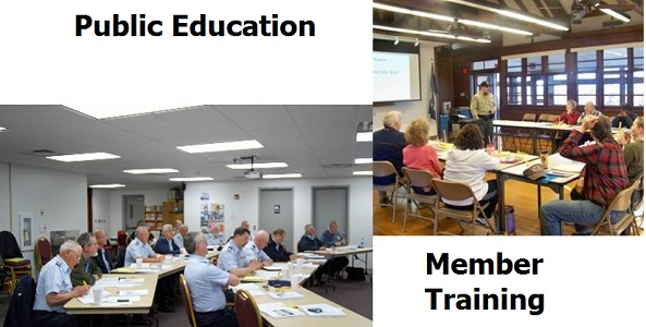 Public education and member training classes