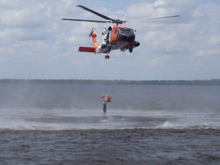 image of Coast Guard Helicopter rescue