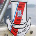 Image of an operational facility decal on a boat