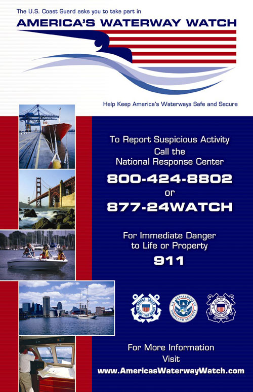 Image of Water Watch program for reporting suspicious activity