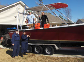 Vessel exam in boater's driveway