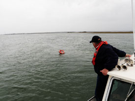 Rescuing person overboard