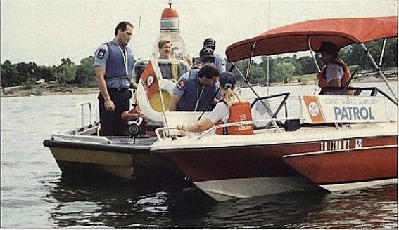 Auxiliarists Training Firefighters in Small Boat Handling