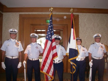 Auxiliarists Honor Guard at the District 7 Conference in Tampa