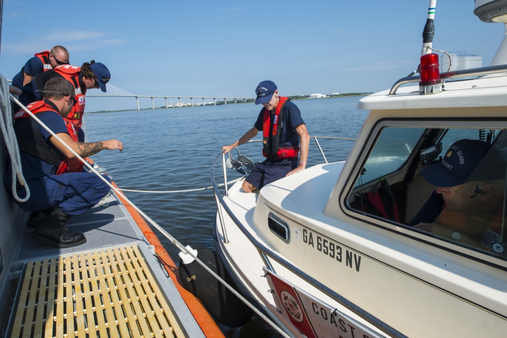 Coast Guard and Auxiliary working together