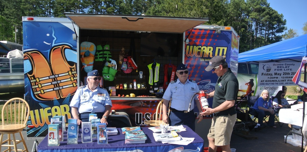 Coast Guard Auxiliary Members at a Public Affairs event