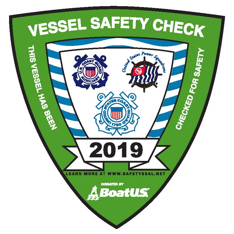 Do you have your Vessel Safety Check sticker yet?