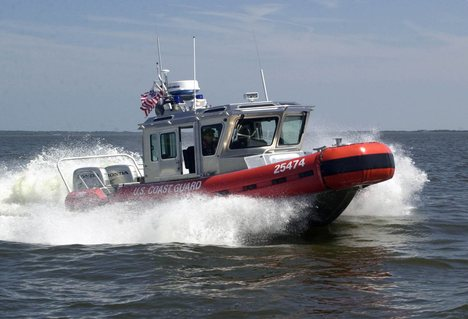 Coast Guard Station Brunswickrescue boat running