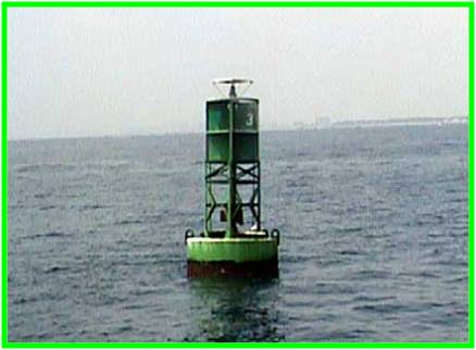 Green, odd number, lateral buoy
