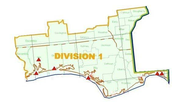 Map of Division 1,