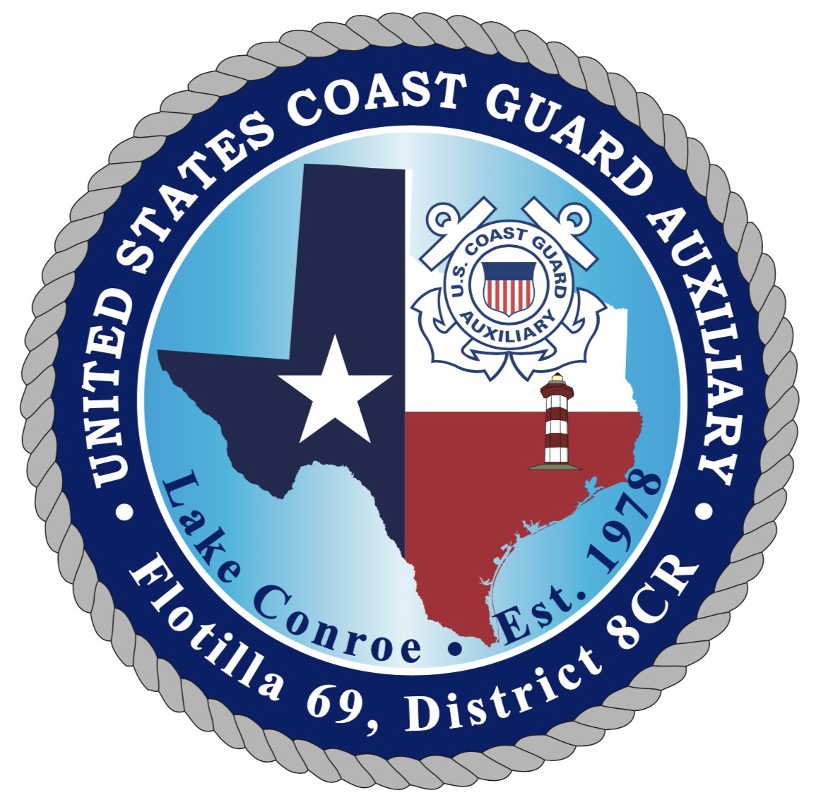 Official Seal of Flotilla 6-9, District 8CR