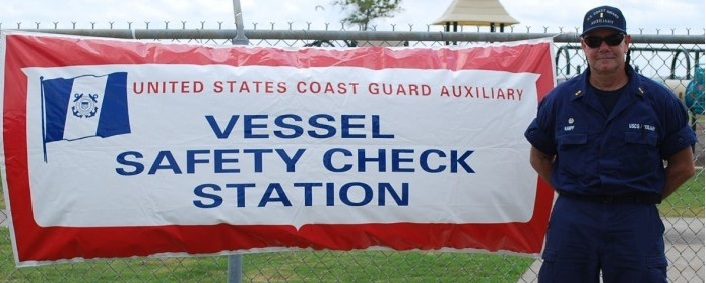 Sign Advertising a Vessel Safety Check Station