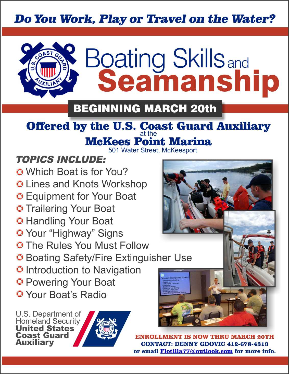 Image of Boating Class flyer