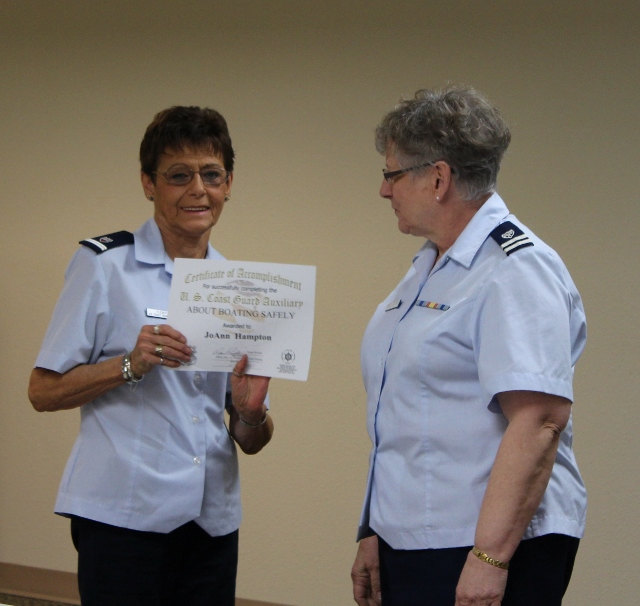 Joanns Boater Safety award