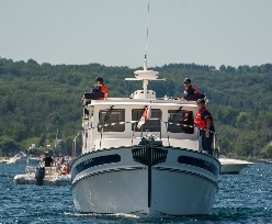 Auxiliary boat on patrol during the Traverse City airshow