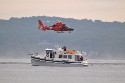 Auxiliary boat providing support
