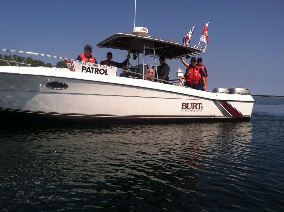 Burt 2 and crew in Grand Marais Harbor
