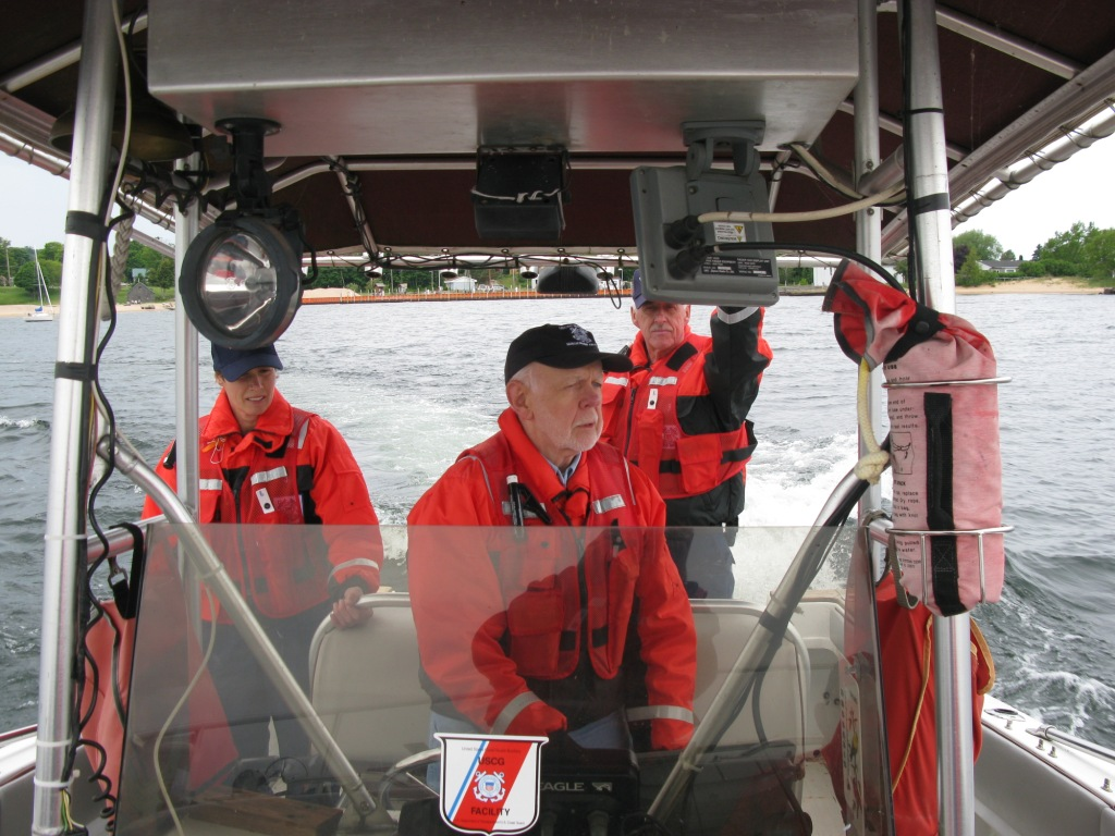 Crew of the Burt 2 on Safety Patrol in Grand Marais Area