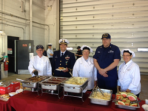 AUX chefs at Station Duluth Change of Command