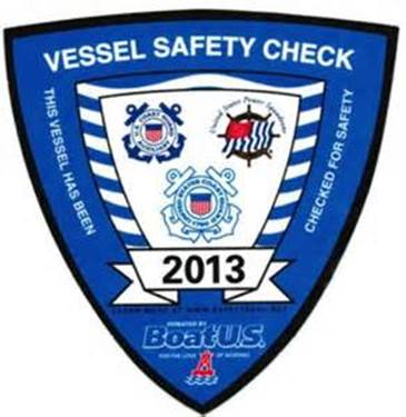 2013 Vessel Safety Check Decal