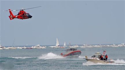 Patrol vessels on Lake Michigan