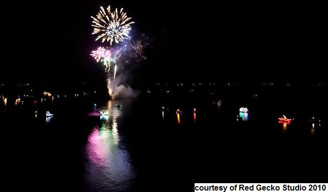 Boat Parade fire works 2010