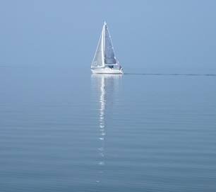 sailboat with reflection