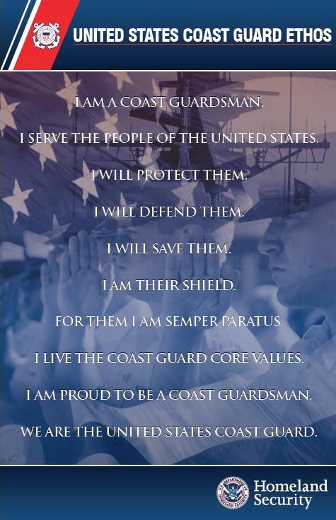 image of US Coast Guard Ethos