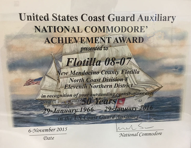 Flotilla 8-7 Celebrates 50 Years of Service to the U.S. Coast Guard
