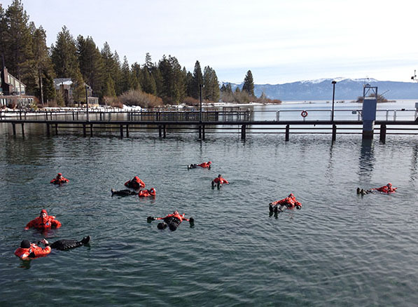Drysuit Swim Lake Tahoe