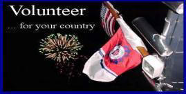 Volunteer with CG flag