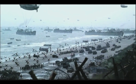 World War 2 'D day' on the beach