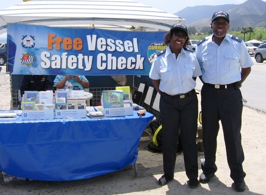 Vessel safety check booth