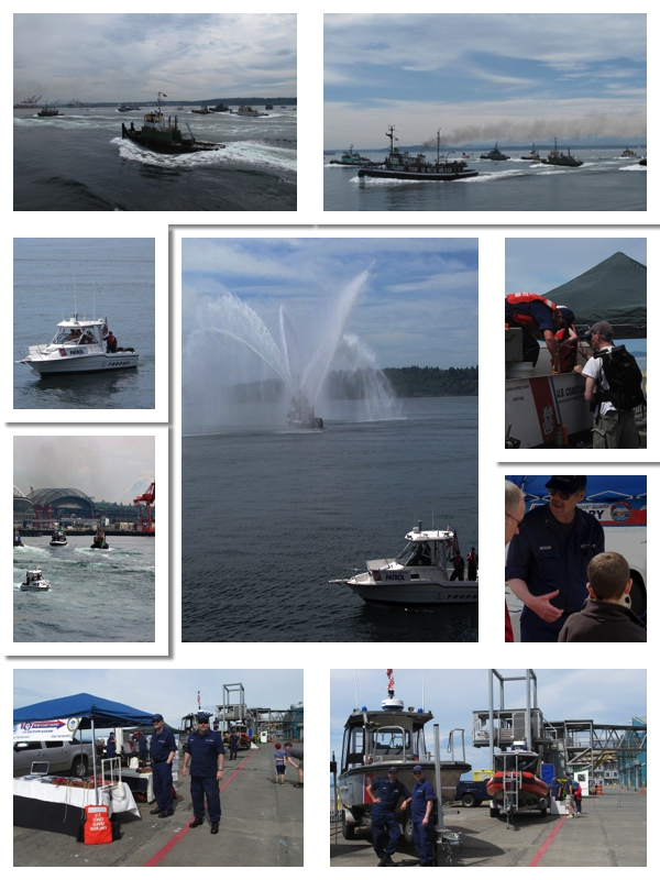 2013 Maritime Week Tugboat Races photo collage