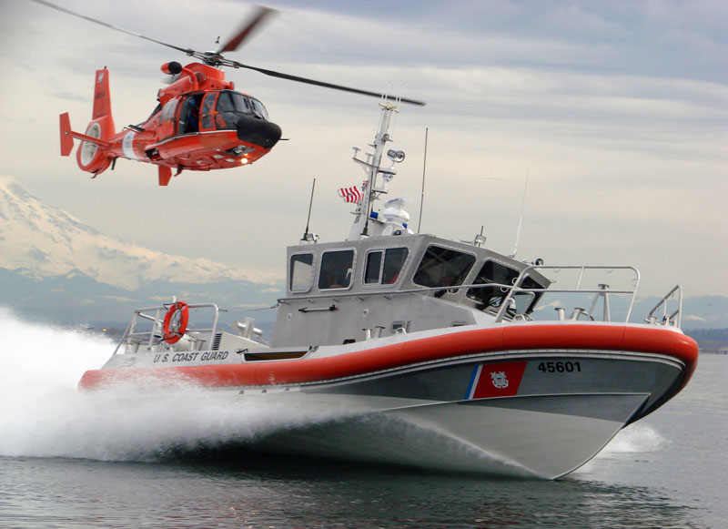 Coast Guard Boat and Helicopter