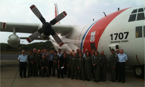 Aux Air Crew with USCG C-130