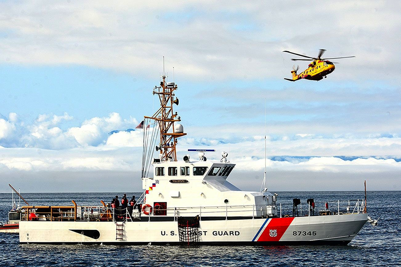 Coast Guard Cutter and Helicopter