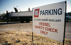 Photo of vessel safety check sign